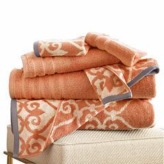 Pacific Coast Textiles Lattice Yarn Dyed 6- pc. Bath Towel Set