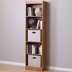 Axess 5-Shelf Narrow Bookcase