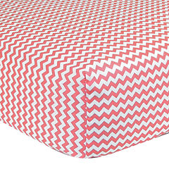 Trend Lab® Pink & White Chevron Fitted Crib Sheet