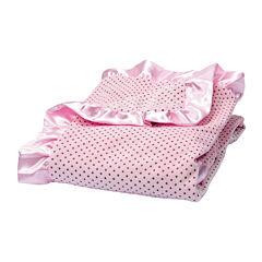 Trend Lab® Pink Polka Dot Velour Blanket