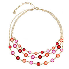 Gloria Vanderbilt Womens Orange Strand Necklace