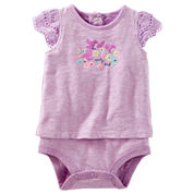 Oshkosh Short Sleeves Bodysuit -Baby Girls