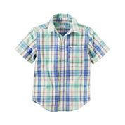 Carter's Boys Short Sleeve Button-Front Shirt