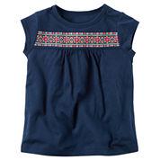 Carter's Tg Knit Top Short Sleeve T-Shirt-Toddler Girls