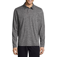 St. John's Bay Long Sleeve Solid Performance PoloShirt