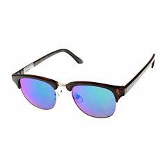 Arizona Half Frame Rectangular Sunglasses-Mens