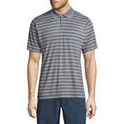 Columbia Short Sleeve Stripe Knit Polo Shirt