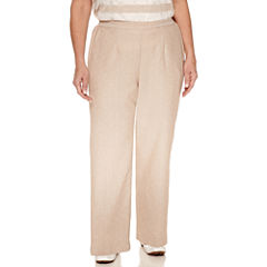 Alfred Dunner Woven Flat Front Pants-Plus (27.5