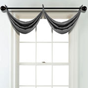 JCPenney Home Velvet Grommet Unlined Waterfall Valance