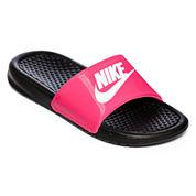 Nike® Benassi Girls Slide Sandals - Little Kids