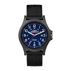 Timex Mens Black Strap Watch-Tw49999009j