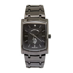 U.S. Polo Assn.® Mens Black Stainless Steel Watch