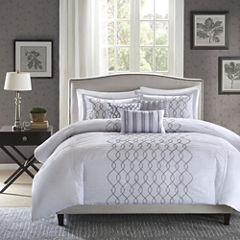 Madison Park Lillian Embroidered 6-pc. Duvet Cover Set