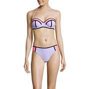 Arizona Colorblock Push-Up Bandeau Swim Top or Hipster Swim Bottom - Juniors