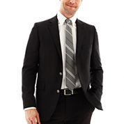 Stafford® Executive Black Hopsack Blazer - Classic