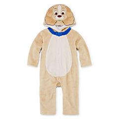 Disney Lady Long-Sleeve Hooded Romper - Baby Girls newborn-24m