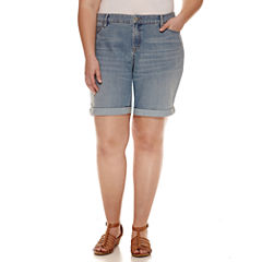 a.n.a Denim Bermuda Shorts-Plus
