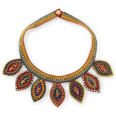 Multicolor Bead Bib Necklace