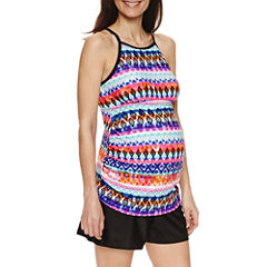 a.n.a Pattern Tankini Swimsuit Top or Boyshort-Maternity