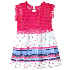 Nanette Baby Short Sleeve Sundress - Toddler Girls