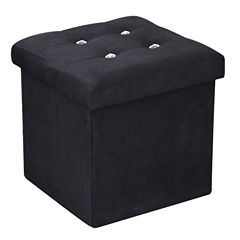 Home Basics Storage Ottoman