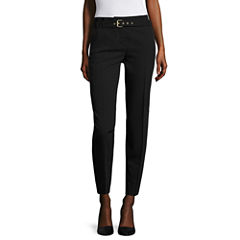 Worthington Modern Fit Belted Ankle Pants