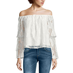 i jeans by Buffalo Lace Off The Shoulder Top