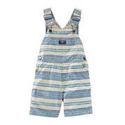 OshKosh B'gosh® Striped Shortalls - Baby Boys 6m-24m