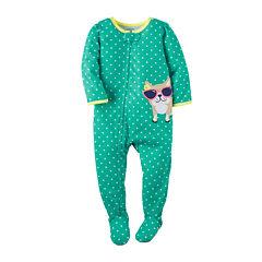 Carter's® Dot Cat Footed Pajamas - Baby Girls newborn-24m