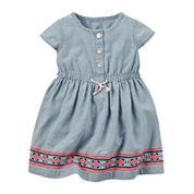 Carter's® Short-Sleeve Chambray Dress - Baby Girls newborn-24m
