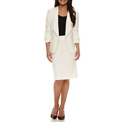 Chelsea Rose 3/4 Ruched-Sleeve Jacket with Pencil Skirt