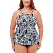 Jamaica Bay® Tidal Swirl Tankini Swim Top or Adjustable Side Swim Bottoms