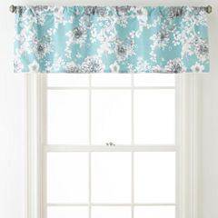 JCPenney Home Pencil Floral Rod-Pocket Valance
