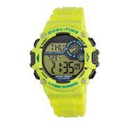 Armitron® Mens Yellow Chronograph Digital Sport Watch