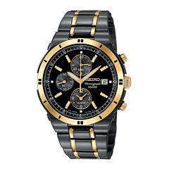 Seiko® Mens TiCN Chronograph Watch SNAA30