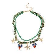 Bleu™ Gold-Tone Starfish and Shell Layered Necklace