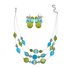 Mixit™ Blue and Green Necklace and Earring Set