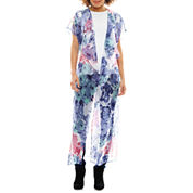 Studio 36 Rose Print Kimono Wrap