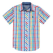 U.S. Polo Assn. Short Sleeve Button-Front Shirt Boys