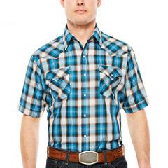 Ely Cattleman Short Sleeve Snap Plaid - Reg
