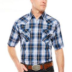 Ely Cattleman Short Sleeve Snap Plaid - Big & Tall