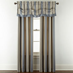 Royal Velvet® Lazarro Stripe Rod-Pocket/Back-Tab Window Treatments