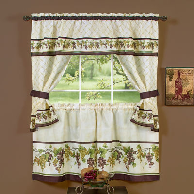 Tuscany Cottage Rod Pocket Window Tiers U0026 Tailored Topper Set