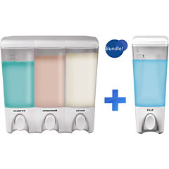 Clear Choice White Single & Triple Liquid Soap Dispensers