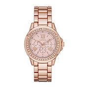 Geneva Womens Rose Dial Rose-Tone Watch