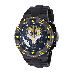 Invicta® Mens Black Silicone Strap Watch