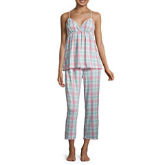 Pj Couture 2-pc. Plaid Pant Pajama Set-Juniors