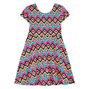 Total Girl Sleeveless Skater Dress - Big Kid Girls