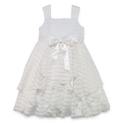 Marmellata Shadow Stripe Flower Girl Dress - Girls' 7-16 and Plus