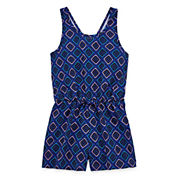 City Streets Sleeveless Romper - Girls' 4-16